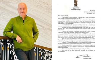 Anupam Kher 'honoured and humbled' on receiving PM Modi's signed letter
