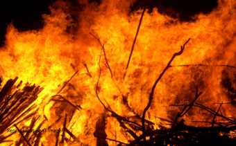 50 temporary houses gutted in fire in Angul