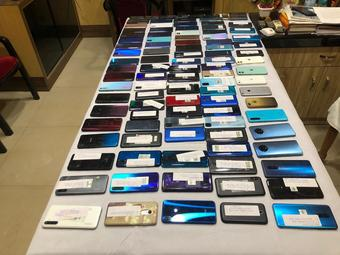 Mobile theft racket busted in city; 103 sets seized, 3 arrested