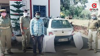 Over 50 kg ganja seized from car in Nabarangpur, 1 held