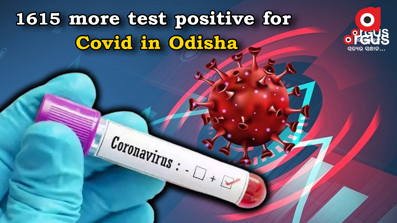 Odisha reports 1,615 Covid cases in last 24 hours; tally mounts to 9,74,132