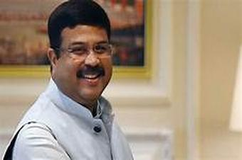 Pradhan greets Suvendu on being elected as WB LoP