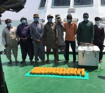 Indian Coast Guard apprehends Pakistani boat with 30 kgs of heroin off Gujurat coast