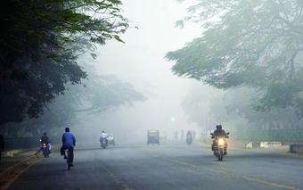 Dense fog disrupts traffic movement in capital city