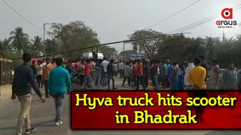 One dies, another critical as hyva truck hits scooter in Bhadrak