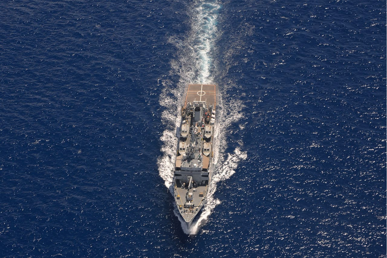 INS Sarvekshak reaches Mauritius to take part in joint hydrographic surveys