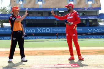 Punjab Kings choose to bat against SunRisers Hyderabad