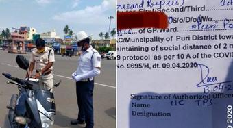 Traffic constable in Puri slapped fine of Rs 2000 for not wearing masks