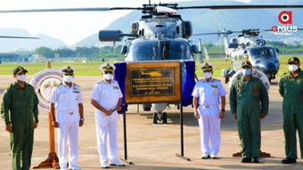 Indian Navy inducts advanced light helicopters at INS Dega