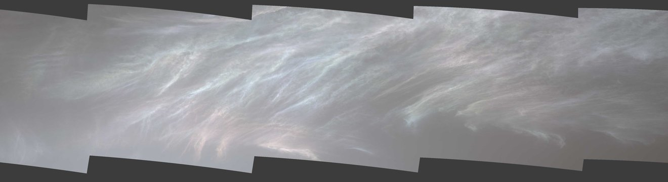 NASA's Mars Curiosity Rover snaps shining clouds on Red Planet