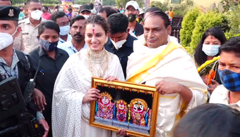 Bollywood actress Kangana Ranaut visits Srimandir
