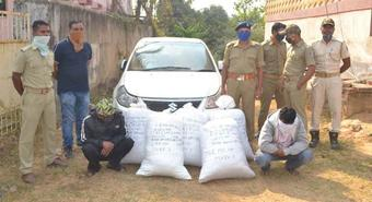 Ganja worth Rs 5 lakh seized in Cuttack, 2 held