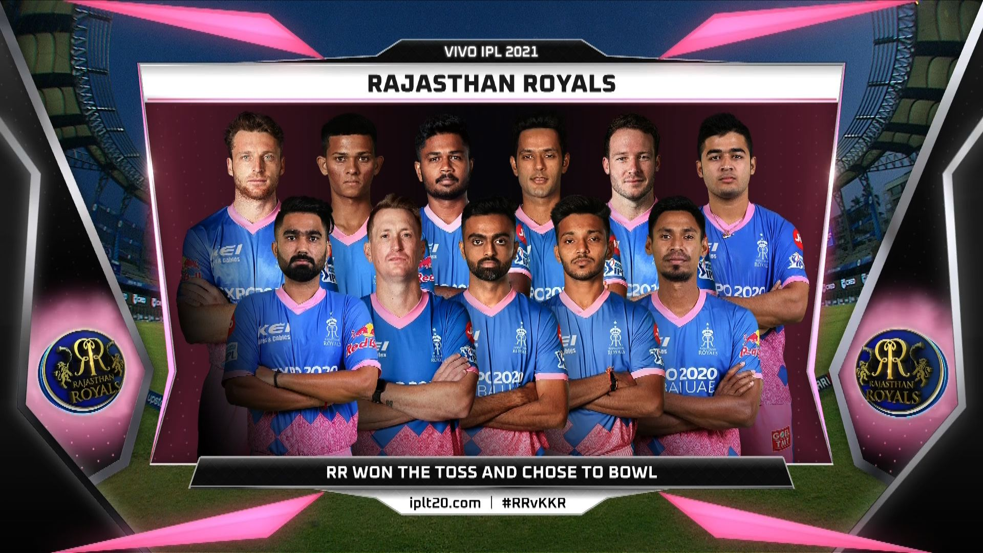 IPL 2021: Rajasthan Royals win toss, opt to bowl against KKR