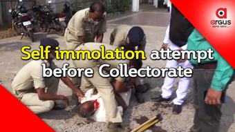 Man attempts self-immolation before Angul Collectorate, saved