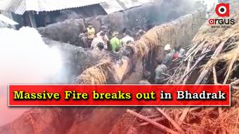 Massive fire breaks out after cylinder blast in Bhadrak