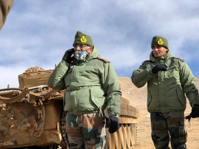 Indian Army chief visits forward locations at LAC with China